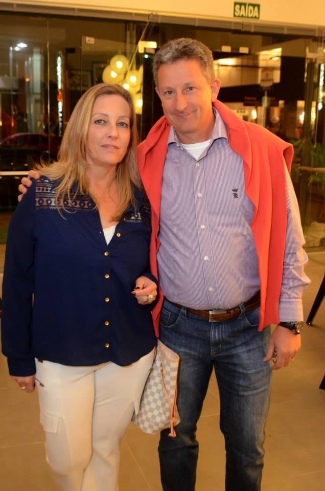 Claudio Chies e esposa